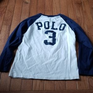 Ralph lauren boys 7 baseball reglan shirt